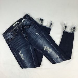Kancan distressed skinny jeans size 25